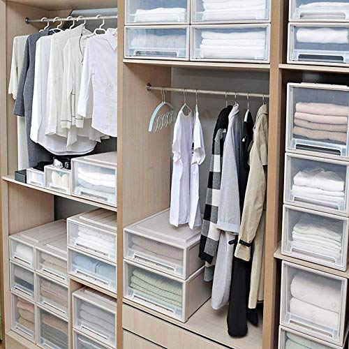 Organizadores cajonera plastico Armario, Armario apilable, Reutilizable cajón de Almacenamiento para Dormitorio,...