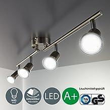 Plafonnier led I lumière blanche & chaude I lampe de salon moderne I spot lumineux I luminaire I éclairage intérieur I ampoules I 230 V I IP20 I 4 x 3 W