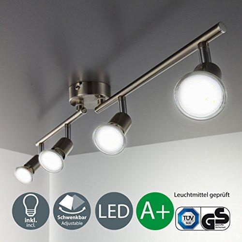 B.K.Licht Foco LED para techo I Lámpara de techo con focos redondos...