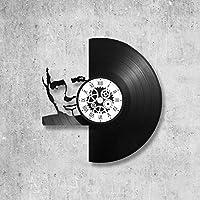 Horloge murale en vinyle 33 tours fait-main/thème michel sardou, chanteur, variete française
