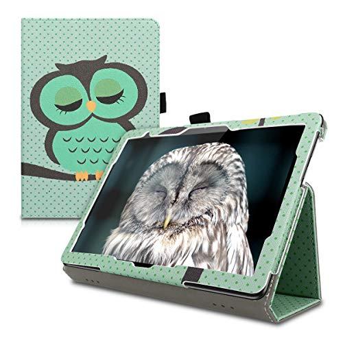Preisvergleich Produktbild kwmobile Huawei MediaPad T5 10 Hülle - Tablet Cover Case Schutzhülle für Huawei MediaPad T5 10 mit Ständer