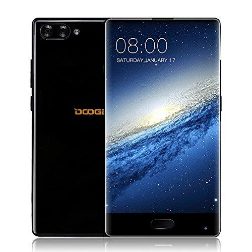 DOOGEE MIX 4G Smartphone Android 7.0 Pantalla 5,5 pulgadas Octa core 4GB RAM 64GB ROM 720*1280P 2.5GHz CPU 16.0MP + 8.0MP Cámara dual 5.0MP Delantero Huella dactilar Dual Sim