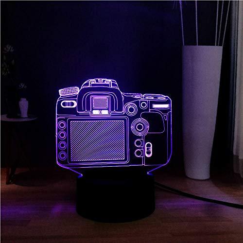 Neuheit Acryl 3D Illusion Digitalkamera Led 7 Farbwechsel Nacht Usb Remote Tisch Nacht Stimmung Lampe Urlaub Freund Kinder Geschenk Digitalkamera-dock