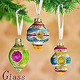 Valery Madelyn Palle di Natale, Glass Christmas Balls Decorazioni Albero novità Ball Ornaments with String Pre-Tied (Set di 6)