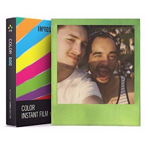 Impossible Sofortbildfilm Metallic Frame Edition für Polaroid 600 Kamera 8 Aufnahmen Mehrfarbig