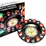 Drinking Game Glass, Drinking Roulette 16 shots, 2 balls , Spinning Drinking Game Set
