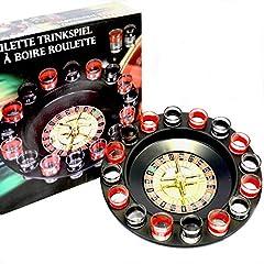 Idea Regalo - Toys4boys Roulette Bere Gioco, Drinking Roulette, Roulette Russa Alcolica, 16 Bicchierini