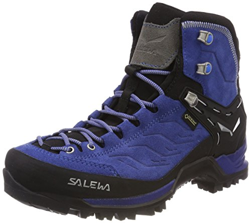 Salewa Ws Mtn Trainer Mid Gtx, Damen Trekking- & Wanderstiefel, Blau (Marlin / Alloy 2430), 40.5 EU