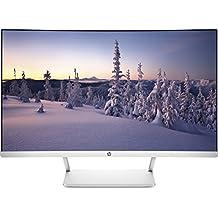 "HP Z4N74AA - Monitor curvo de 27"" (LED, Full HD, 1920 x 1080 a 60 Hz, 16:9, HDMI, DisplayPort 1.2, 100 - 240 VCA ), color blanco"