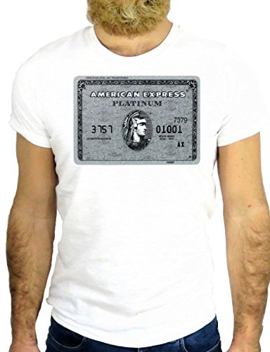 T SHIRT Z0248 COOL RICH FASHION NICE AMEX CIRCUS FUN MODE VINTAGE FANTASTIC GGG24 BIANCA - WHITE