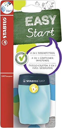 Ergonomischer Dosen-Spitzer für Linkshänder - STABILO EASYsharpener - 1er Pack - 3 in 1 - petrol