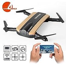 TIME4DEALS Pocket Selfie Drone Foldable WIFI FPV Quadcopter