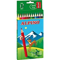 Alpino AL000654 - Estuche cartón de 12 lápices, colores surtidos