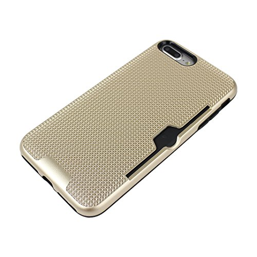 iPhone 7 Plus Hartschale, iPhone 7 Plus 3 in 1 Hülle, iPhone 7 Plus Full Body Case, Moon mood® 3 in 1 Anti-Fingerprint Kratzfeste Kunststoff Harte Rückseite Case Bumper Schutzhülle für Apple iPhone 7  A Gold
