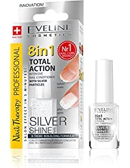 Eveline 8in1 Total Action Nagel Conditioner mit Silberpartikeln, 1er Pack (1 x 12 ml)