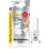 EVELINE 8 IN 1 TOTAL ACTION INTENSIVE NAIL CONDITIONER SILVER SHINE 12ml E-K018