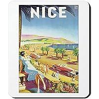 CafePress Nizza Francia Mousepad–Standard Multi-color - Nizza Mouse Pad