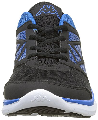 Kappa Fanger Pu, Baskets Basses Homme Noir (951Black/Electric Blue)