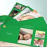 Geburtskarte Baby, Lupine 200 Karten, Kartenfächer 210x80 inkl. weiße Umschläge, Grün