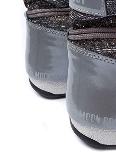 MOON BOOT W.E. LOW LUREX grigio argento