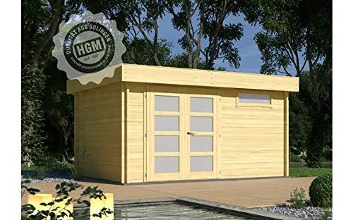 HGM GmbH Gartenhaus München 44D + farbloser Imprägnierung Gartenhaus Holz Holzhaus