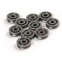 ATOPLEE 10pcs HCS 603VV V profundo surco rodamientos de bolas de rodillos polea ruedas 3x10x3mm