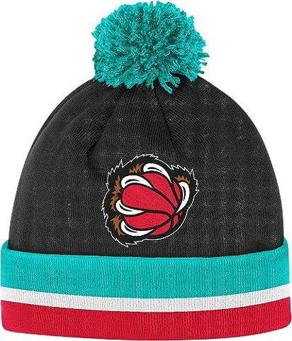 Vancouver Grizzlies Mitchell & Ness NBA Vintage Jersey Stripe Cuffed Knit Hat Chapeau w/ Pom