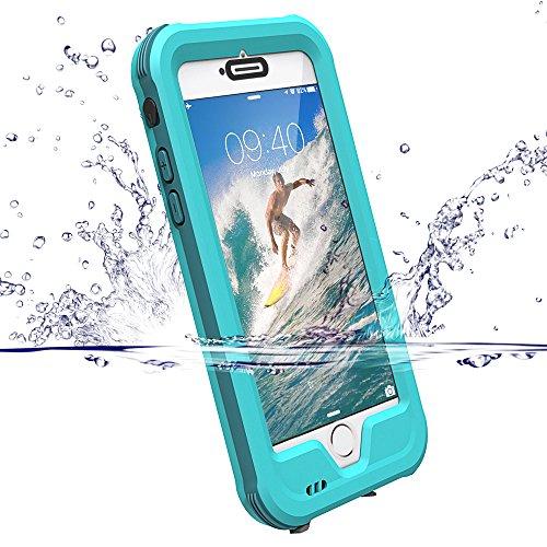 """Coque iPhone 7/6S 4.7"""", ZVE® Etanche Antipoussière Neige Anti Pluie Antichoc Boîtier Splash-proof Case Housse Etui Sport Couvercle Sac Pare-chocs avec Ecran Protecteur, Coque pour Apple iPhone 7 / 6 / 6S Bleu"""