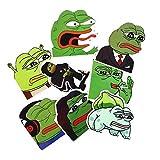 ARUNDEL SERVICES EU 8 Piezas Pepe Sad Frog Pepe la Rana Etiqueta engomada Divertida para el...