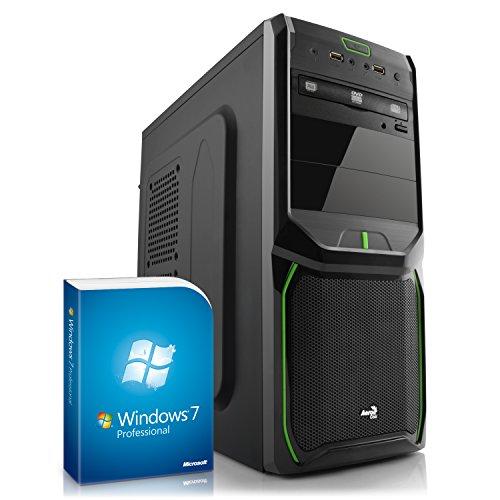 Home & Office PC IDV Q1900M inkl. Windows 7 Professional - Intel Quad-Core J1900 4× 2000 MHz, 8GB RAM, Kingston 120 GB SSD, DVD-RW, USB, LAN, Asrock Mainboard, Silent Netzteil, Microsoft Betriebssystem