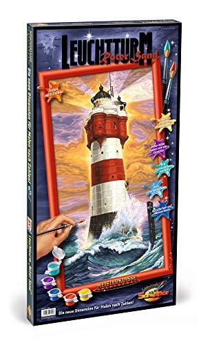 Schipper 609220399 609220399-Malen nach Zahlen-Leuchtturm Roter Sand, 40x80 cm