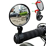 Mumustar 2PCS Mini Bike Mirrors Rear View Adjustable Handlebar Glasses 360 ° Rotation For Mountain Road Bike Bicycle Cycling Accessory