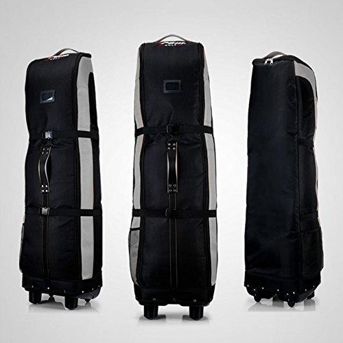 PGM Golf Travel Bag Cover Rädern–--- Double Deck, dicker, wasserdicht Nylon, mit Boden, black-gray
