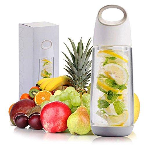 Infuseur à fruits 623 g Poignée bouteille d'eau sans BPA anti-fuite jus 15 + délicieuses recettes pour aider à vous garder hydratée (L. & g.)