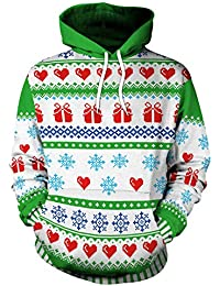 Sudaderas Navideñas con Capucha Hombre Sudadera Navidad Estampadas Jersey  Mujer Sueter Navideño Reno Sweaters Pullover Largas 81916715ff14