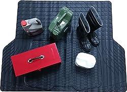 Xtremeauto® Große wasserdicht schwere Kofferraummatte aus Gummi, rutschsicher, zuschneidbar–inkl. xtremeauto-Aufkleber