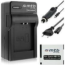 Batería + Cargador (Coche/Corriente) para Canon NB-11L / Ixus 125 HS, 265 HS, Powershot A2500... ver lista!