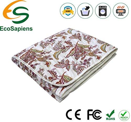 Heizdecke EINEN Prämie Komfort Doppelt EcoSapiens Baumwolle Japanisch Kohlensäure Faser 100% sicher dauerhaft Elektroblech 150 x 90 cm
