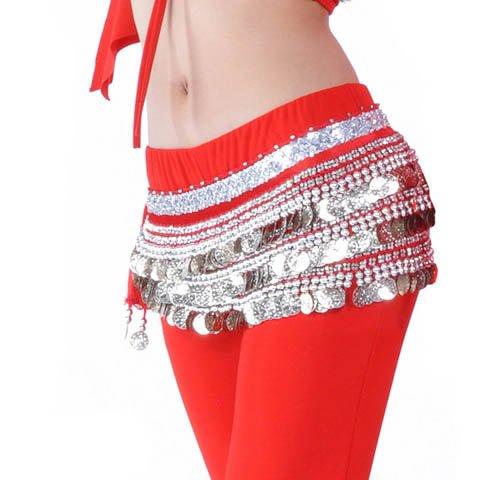 Belly Dance Hip Écharpe de jupe avec paillettes Idée de Cadeau de Noël Style 15