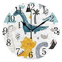 ISAOA Dinosaur Wall Clock for Boy