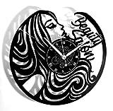 Instant Karma Clocks Horloge Murale en Vinyle Idée Cadeau Vintage pour Coiffure, beauté, barbier, Salon de beauté
