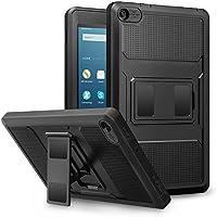 MoKo Amazon Fire 2016 HD 8 Funda - Shockproof Híbrido Resistente Smart Cover Case para Choque con Protector de la Pantalla Incorporado - Negro