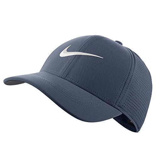 Nike AeroBill Legacy 91 Performance Statement Golf Cap 2018 Thunder Blue/Light Carbon/White Large/X-Large - Nike Langarm Dri-fit-golf