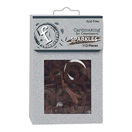 Ruby Rock-It RRI Chipboard - Sparkle Alphabet Chocolate -