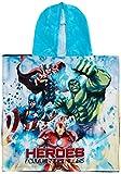 Marvel Jungen Bademantel Bathrobe Towel, blau, One Size