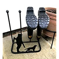 Poppy Forge Unique Gun Down Design Wellington Boot Rack for two pairs