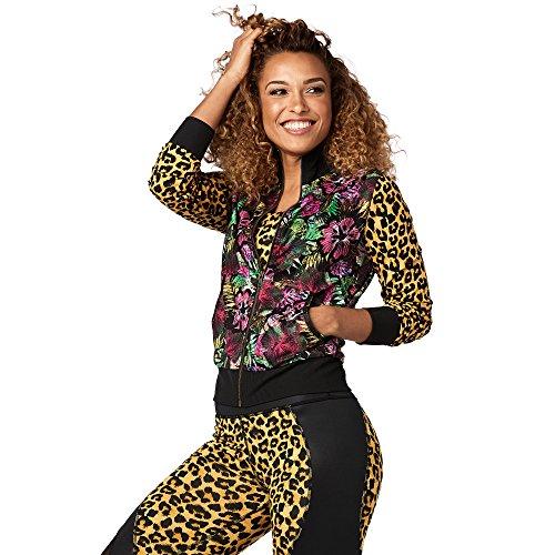 Zumba Fitness Damen Gozadera Mesh Zip up Jacket Frauentop, Bold Black, XS Preisvergleich