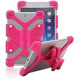 Tsmine soporte Universal a prueba de golpes suave silicona piel Funda elástica para Alba Tablet Rose Pink Alba 7 Inch