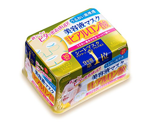 Kose Clear Turn Essence Facial Mask with Hyaluronic Acid - 30 masks (japan import)