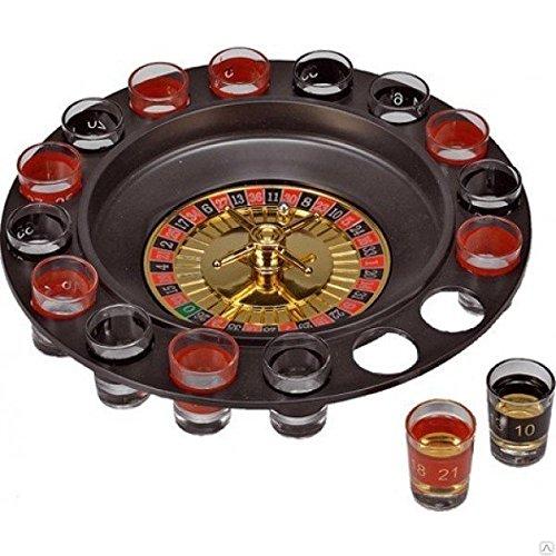 793988 Roulette alcolica con bicchierini in vetro inclusi drinking game. MEDIA WAVE store
